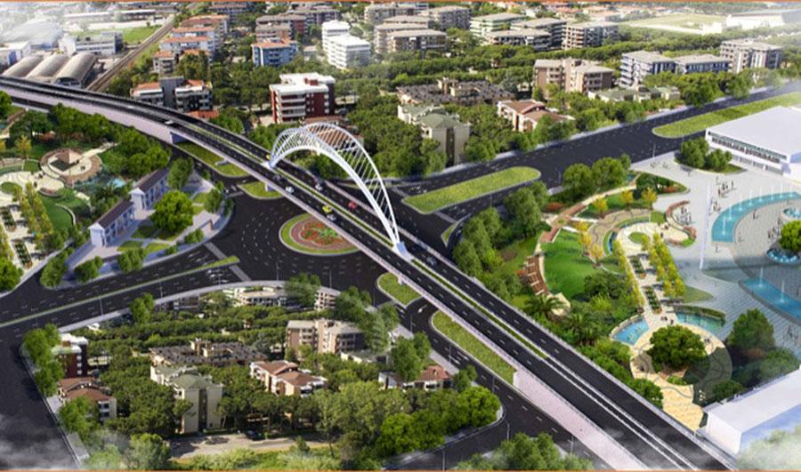 The bridge over Nguyen Van Linh intersection.