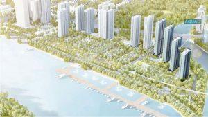 The location of Aqua Court 3 Vinhomes Golden River project