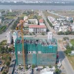 The construction site of Waterina Suites District 2