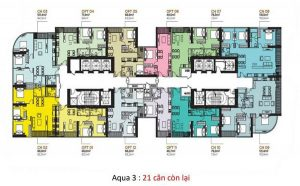 Typical floor plan court 2 Vinhomes Golden River