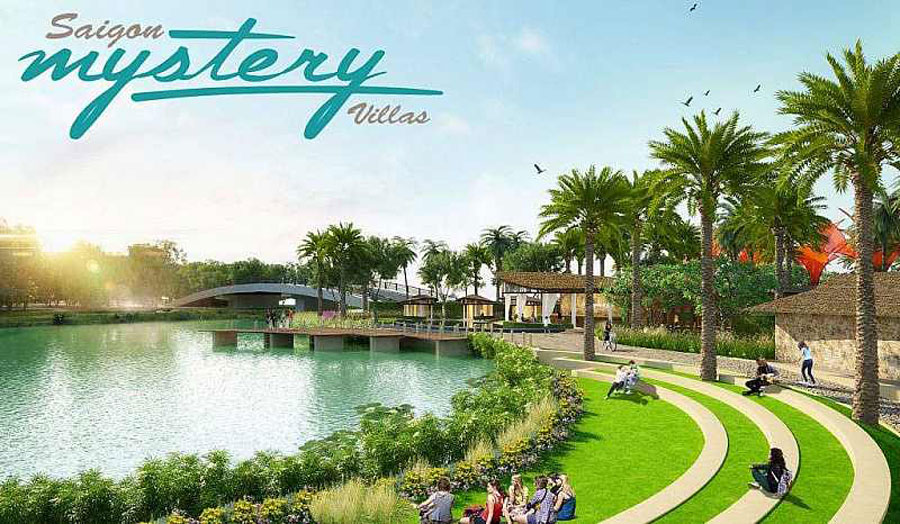Waterfront park at Saigon Mystery Villas