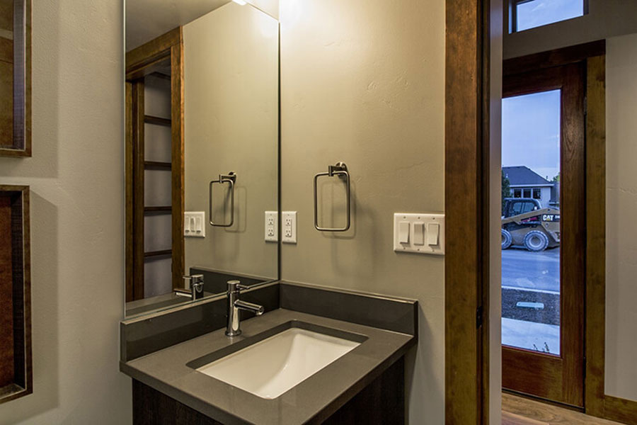 Bathrooms are equipped with modern appliances