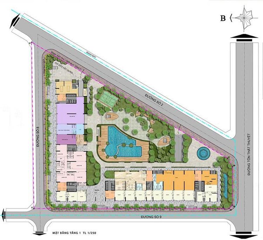 First floor design of Charmington Iris