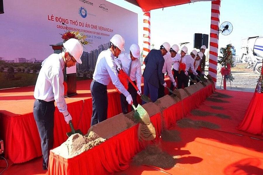 Groundbreaking Ceremony of One Verandah Project District 2