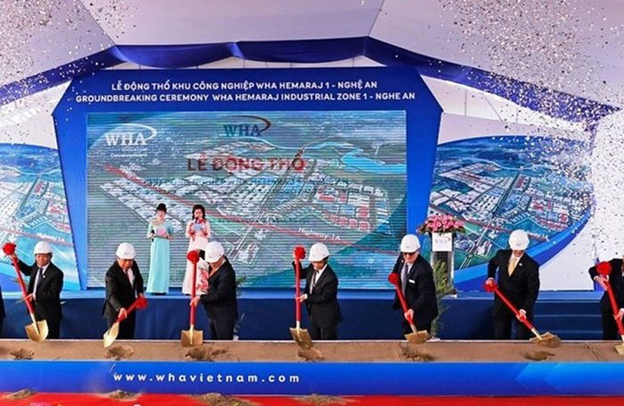 Groundbreaking Ceremony of WHA Hemaraj Industrial Zone 1- Nghe An