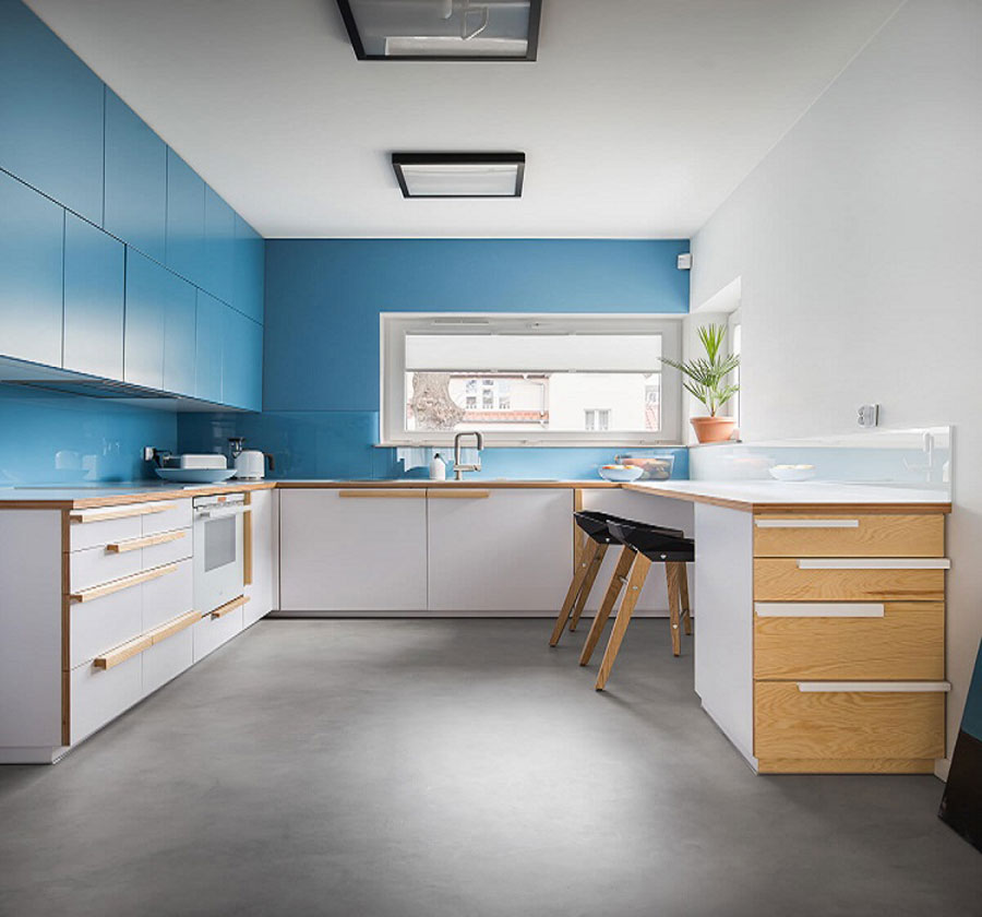 Kitchen space is designed smart