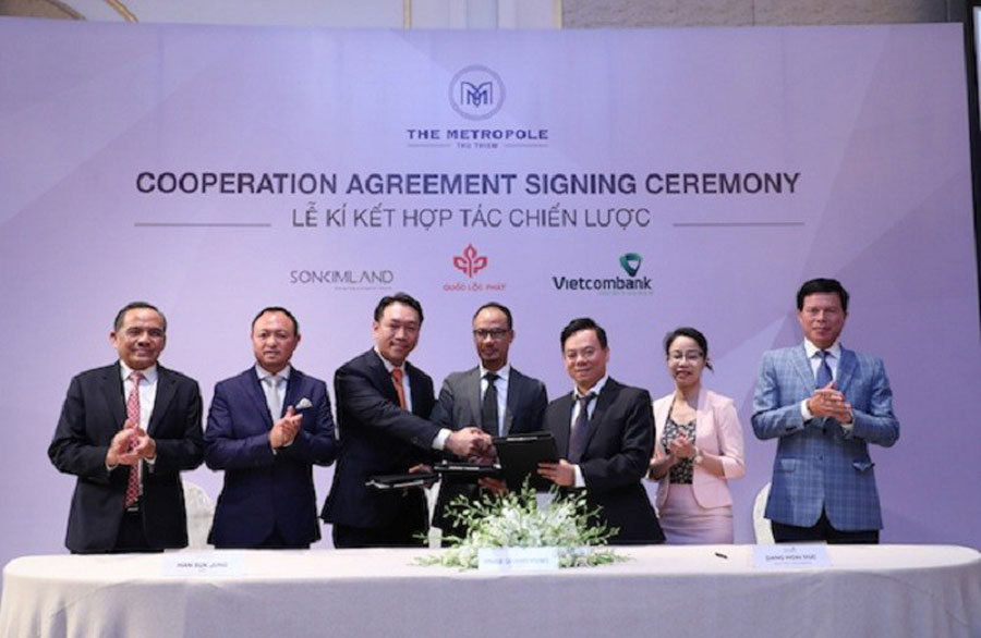 Loc Phat, SonKim Land and Vietcombank cooperate to develop the Thu Thiem project