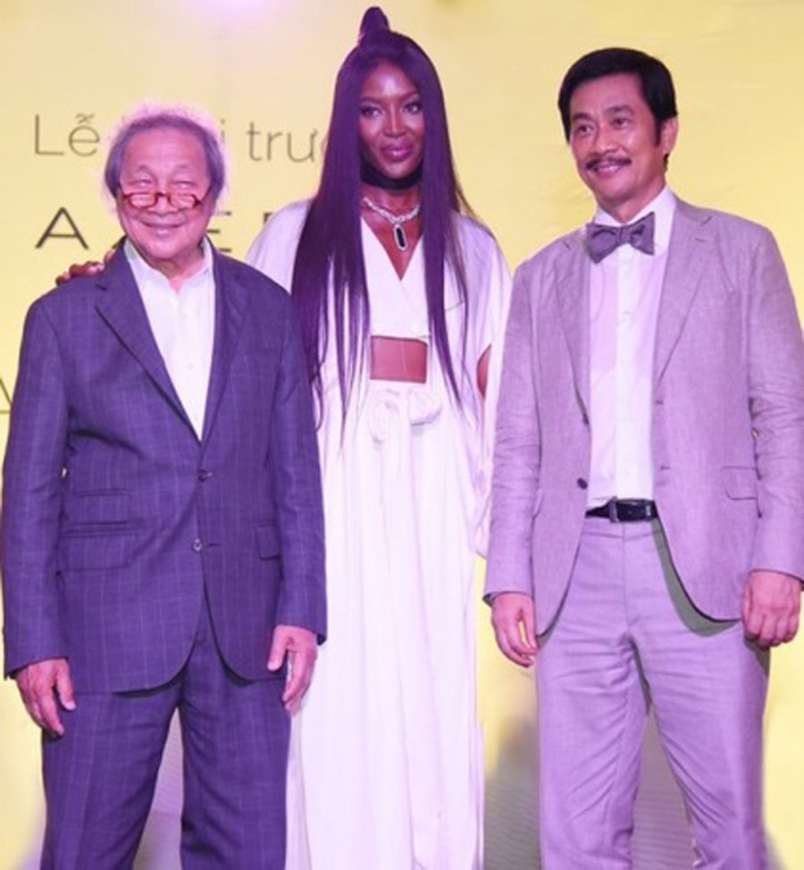 Mr. Adrian Zecha, supermodel Naomi Cambell and Chairman of Novaland Bui Thanh Nhon