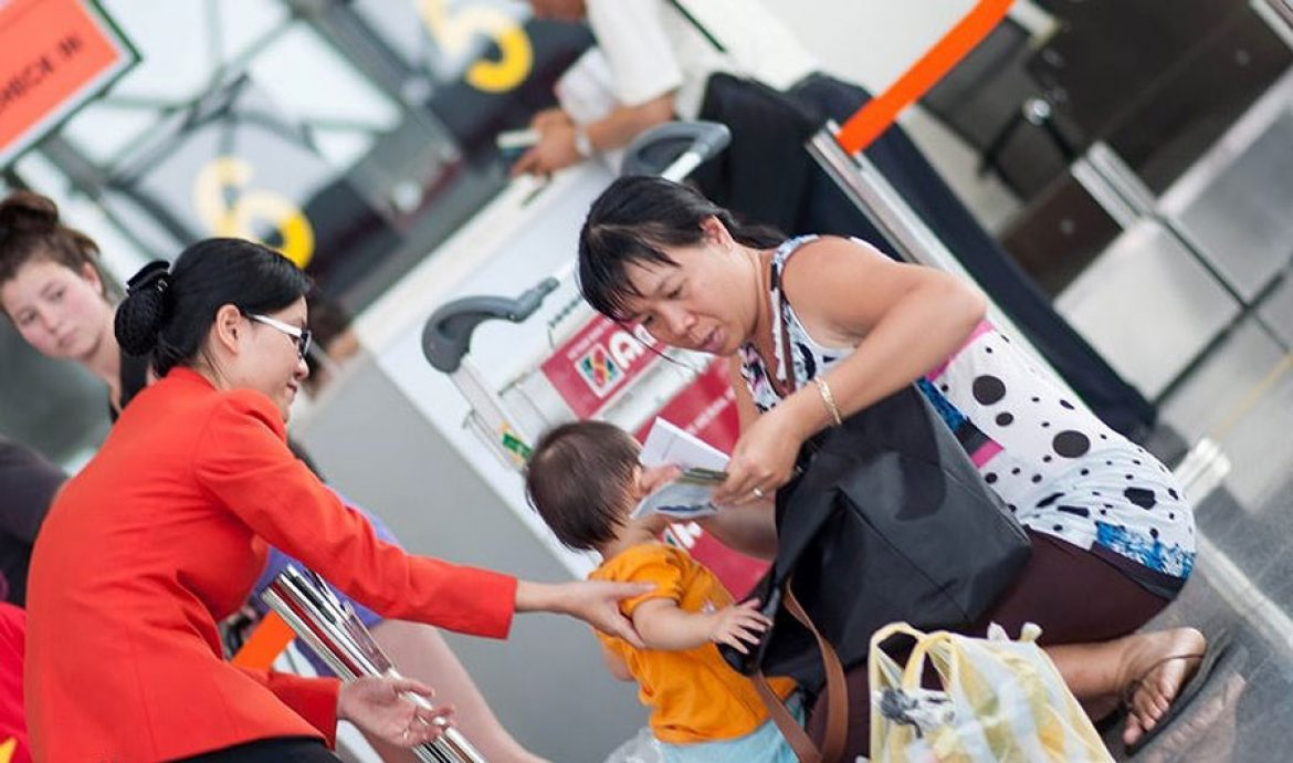 Passengers traveling with children are subject to VIP procedures
