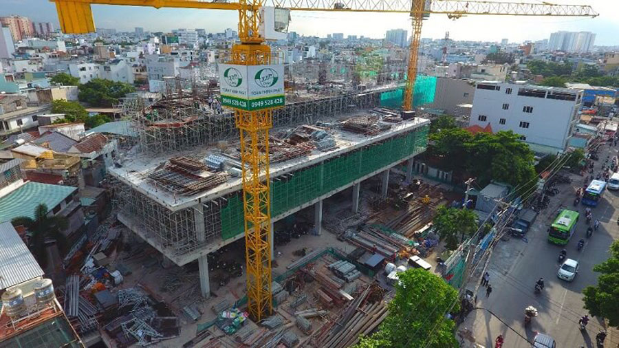 Picture of construction project TTC Plaza commercial center Binh Thanh
