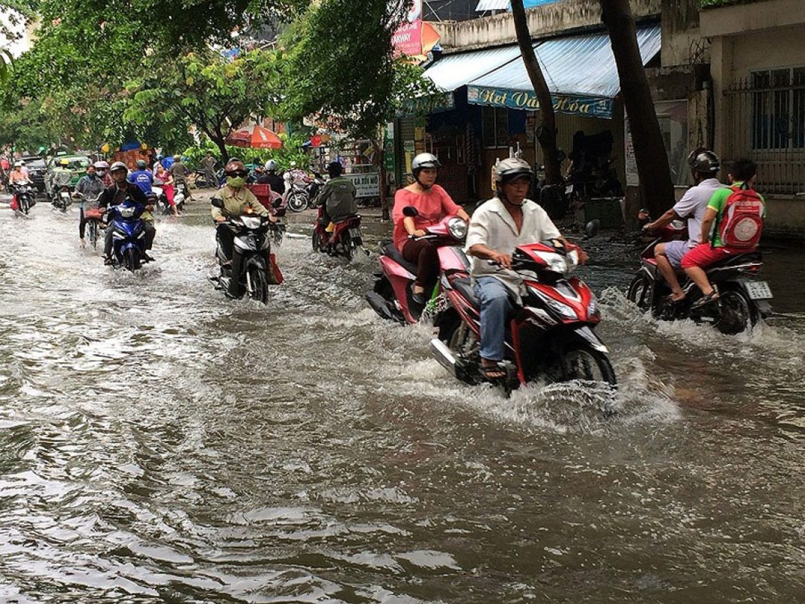 Quoc Huong route is frequently flooded.