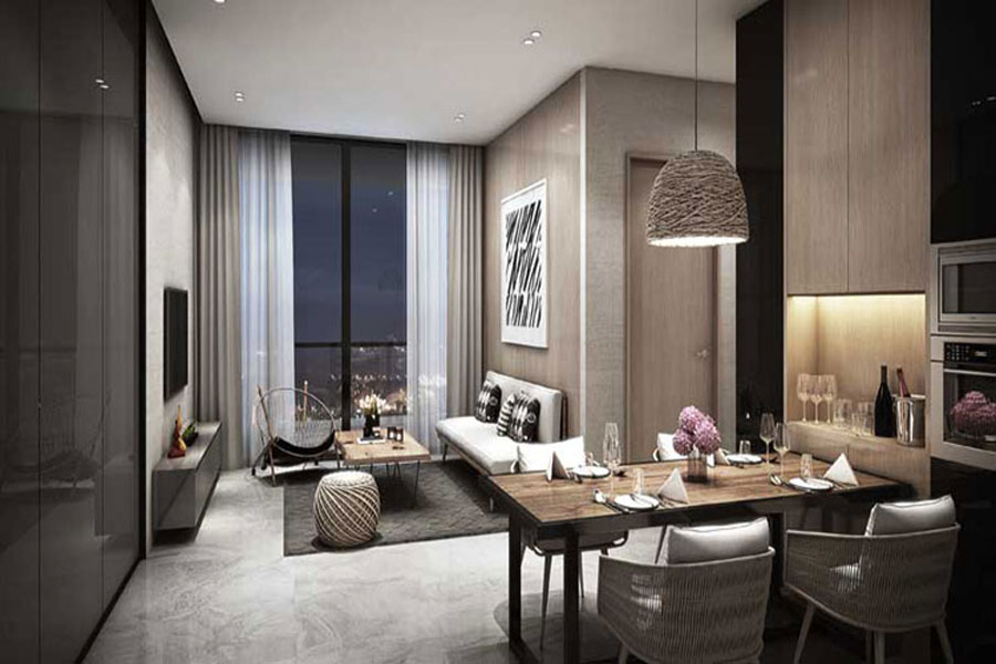 Sample apartment at the Empire City apartment project