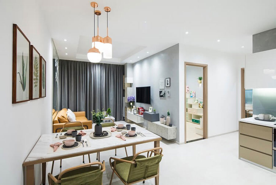 The Charmington Iris apartment has been designed extensively