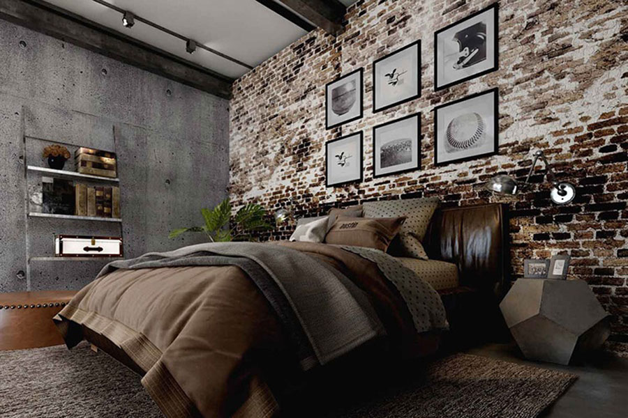 The dark brown color makes the bedroom more cozy