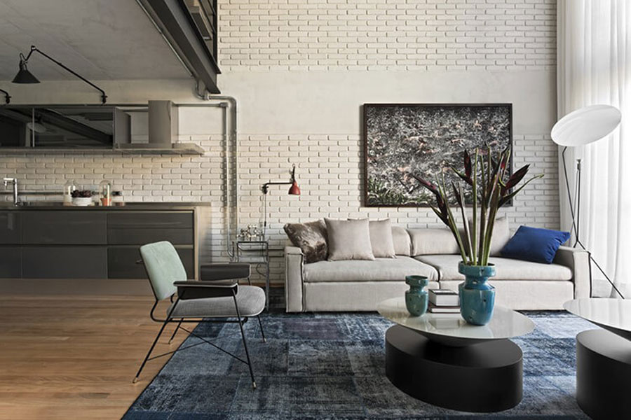 The living room exudes subtle beauty