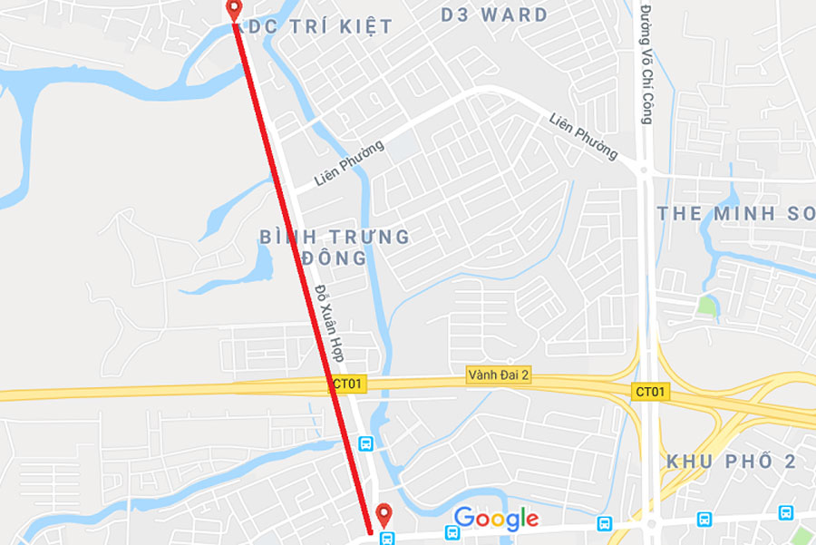 The location of Do Xuan Hop will be expanded to 30 meters