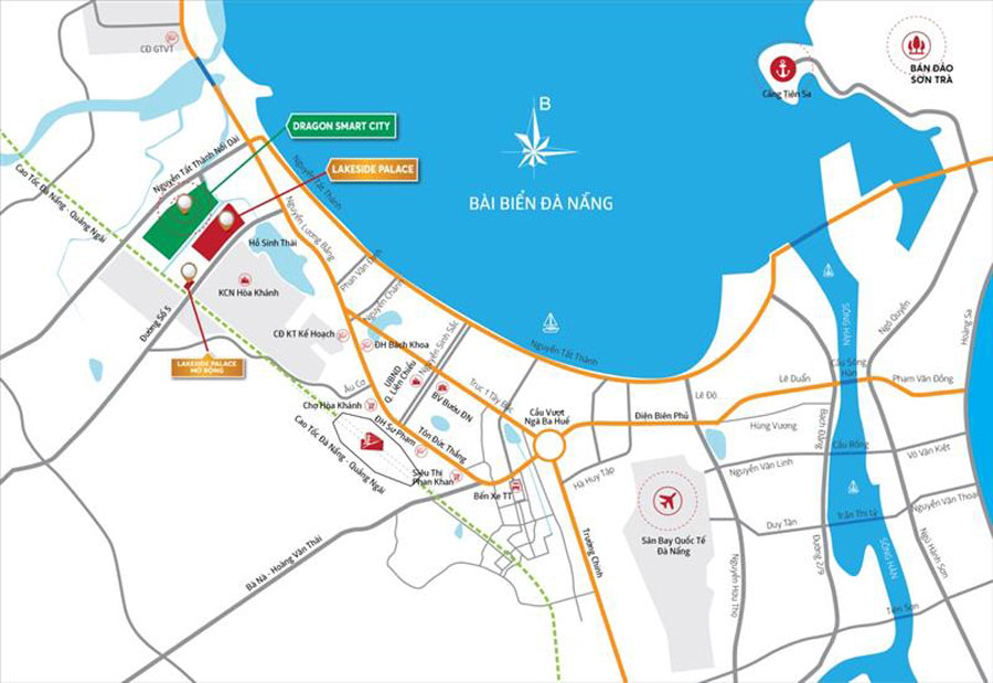 Position is located - the factor that many investors appreciate the Da Nang Dragon Smart City