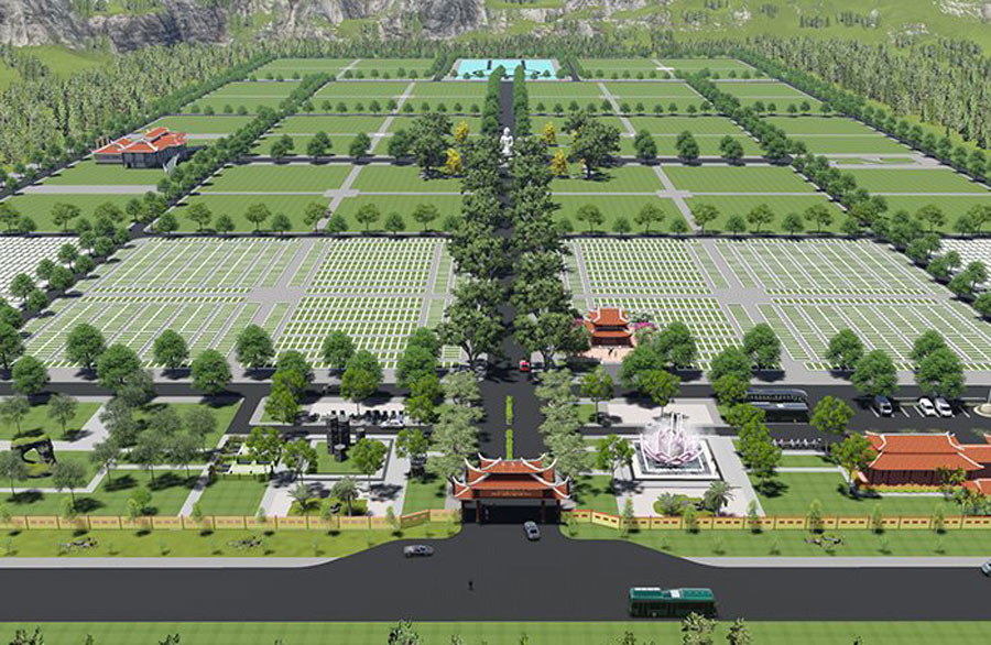 VND1,400 billion invested to build cemeteries for senior leaders.
