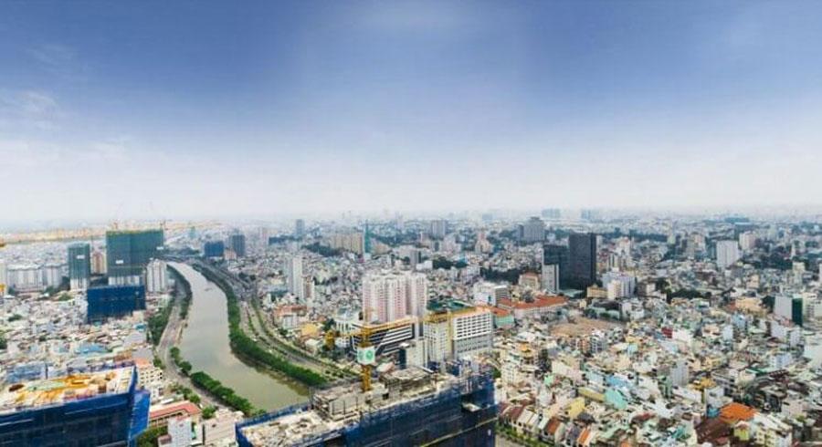 View District 5 in daytime from Masteri Millennium.