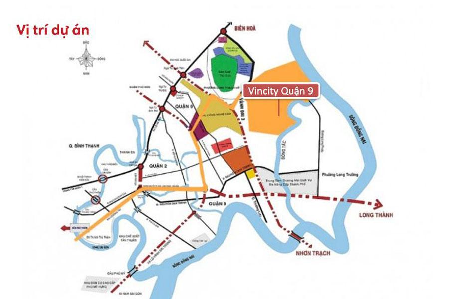 Location of Vincity Grand park