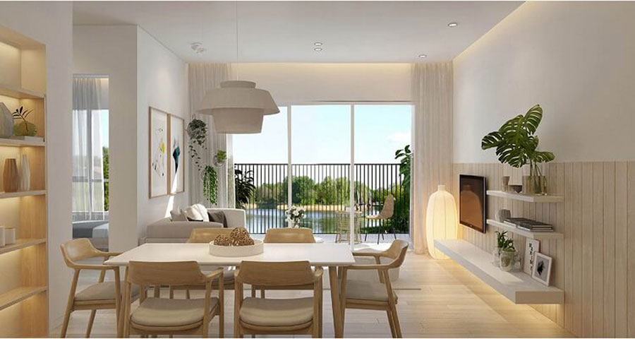 apartments from 1 to 3 bedrooms in the Palm City apartment project