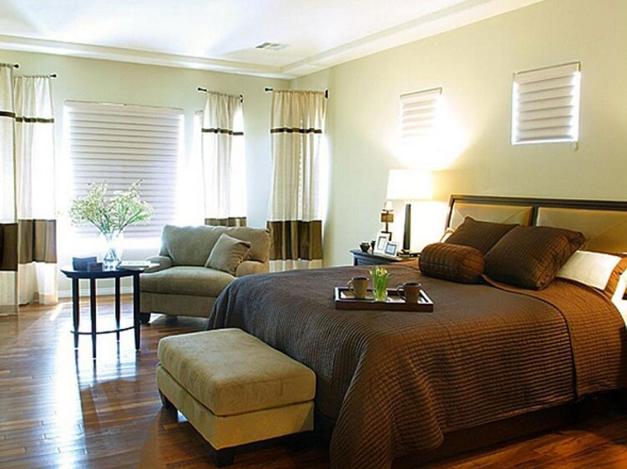 Bedrooms for older people should be light to moderate, mild