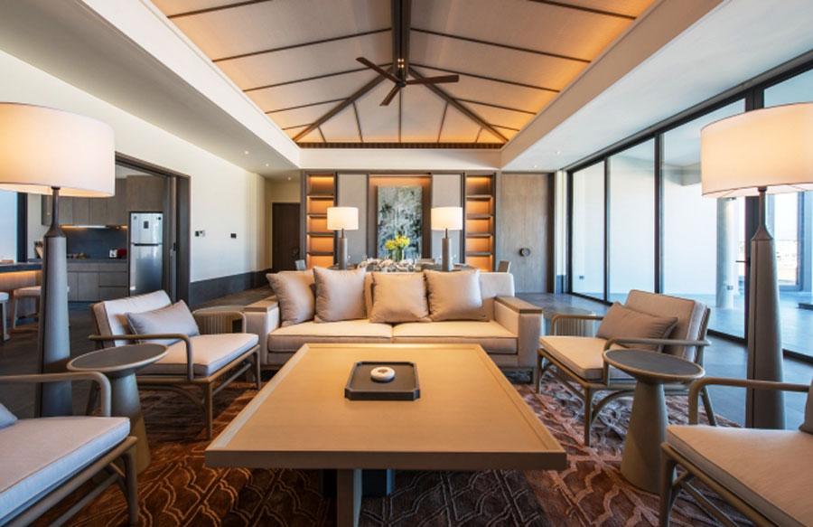 Elegant interior space inside the Regent Residences Phu Quoc.