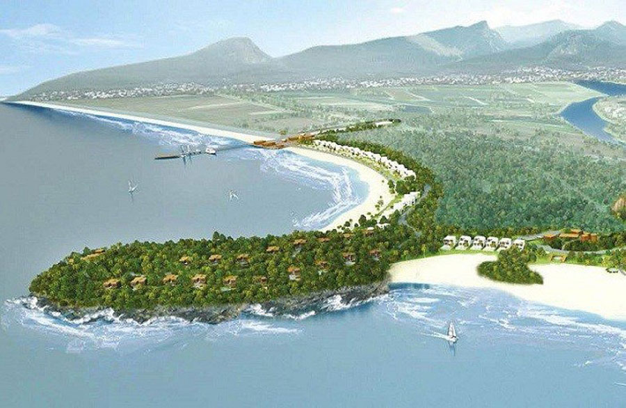 Nam O Resort project of Trung Thuy Group is reduced from 36ha to 16ha