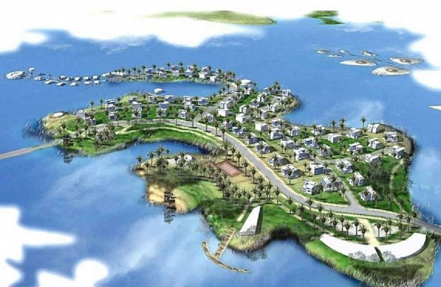 Overview of Tan Vien high-end international tourism project.