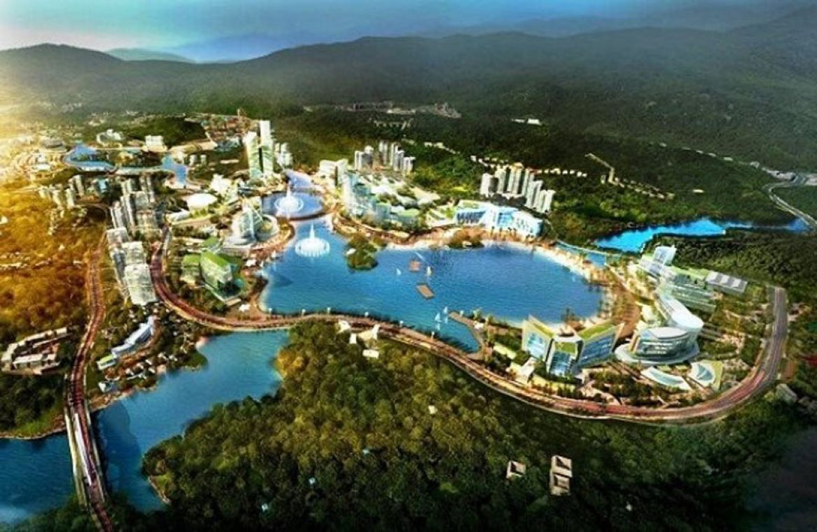 Perspective of the casino complex in Van Don, Quang Ninh.