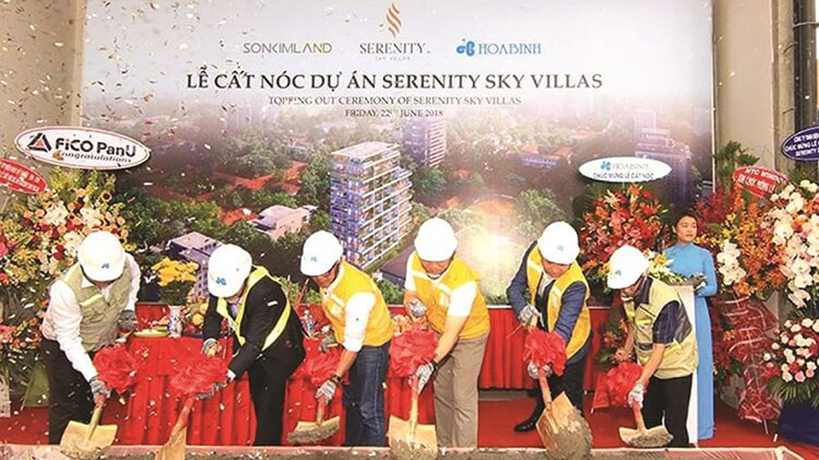 Roofing Ceremony of Serenity Sky Villas project of Son Kim Land