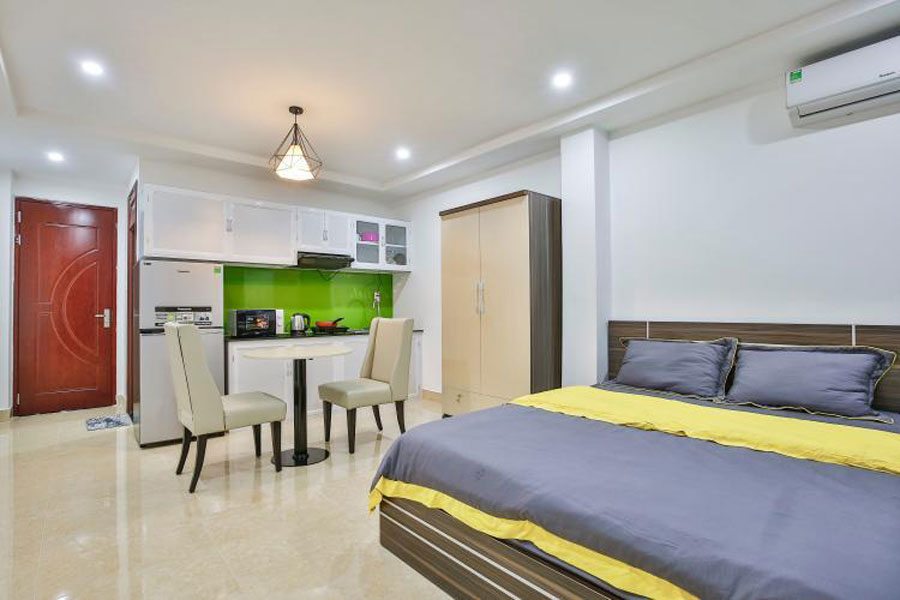 Small apartment is dependent on the newly married couple
