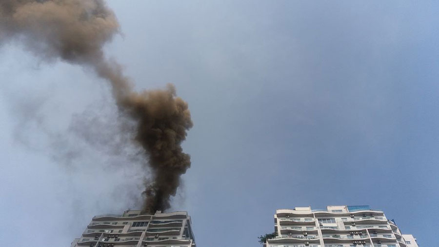 The fire broke out on the 21st floor of the Golden Westlake apartment.