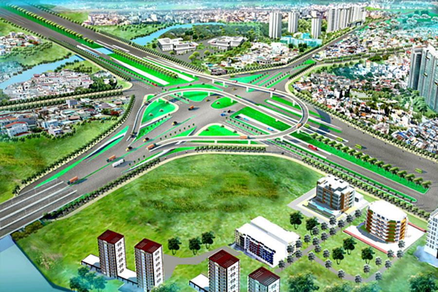 Traffic junction Nguyen Van Linh - Nguyen Huu Tho
