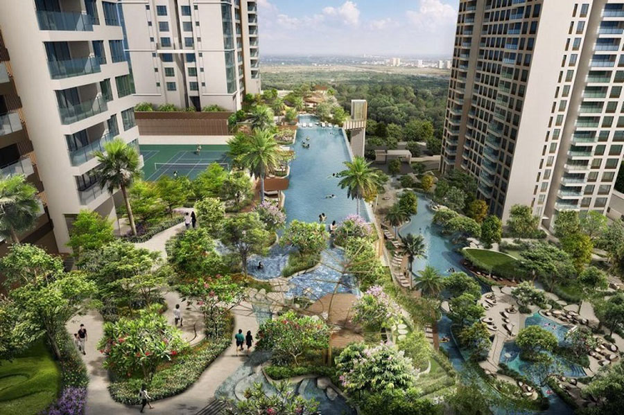 With full facilities in the high-end residential area, old life is the series of days to enjoy life leisure
