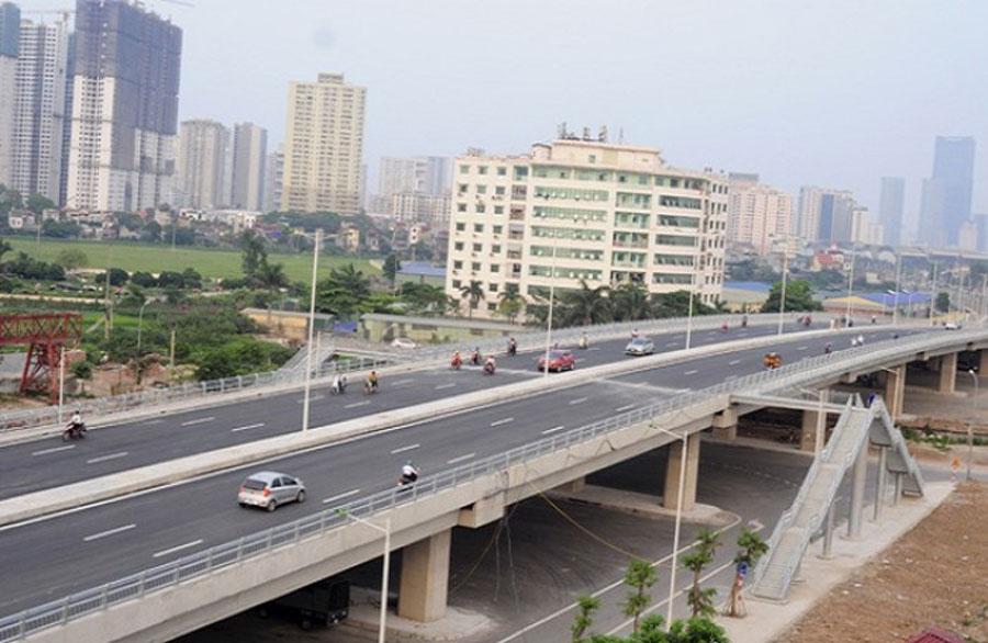 Hanoi will build a bridge over the intersection of Hoang Quoc Viet Street - Nguyen Van Huyen Street.