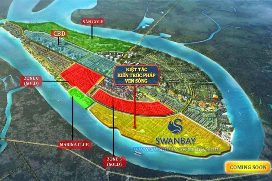 Location of SwanBay La Maison subdivision.