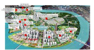 Location of the project Thu Thiem Xi Thu Thiem
