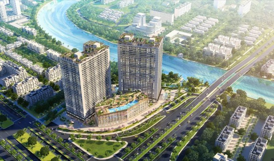 Perspective of Lavida project at the gateway of Saigon South