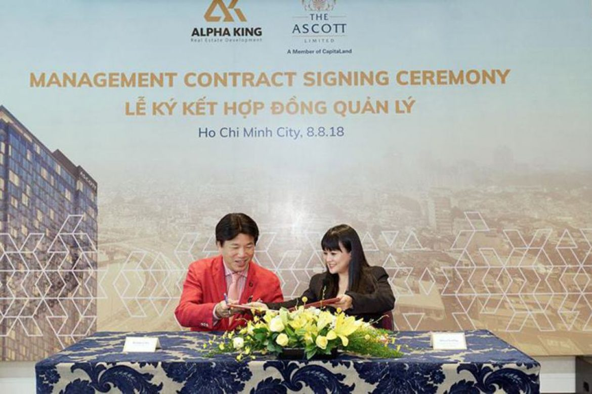 Signing ceremony between Alpha King and Ascott took place on August 8
