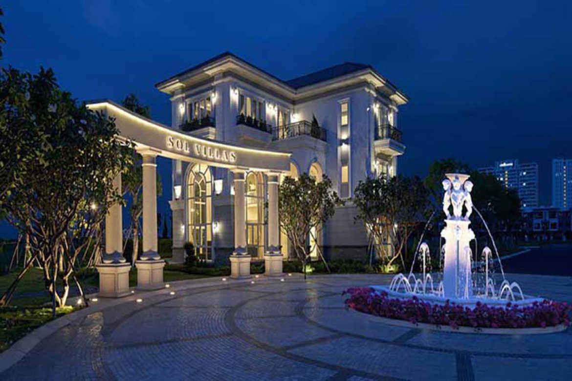 Sol Villas have French-style neo-classical architecture