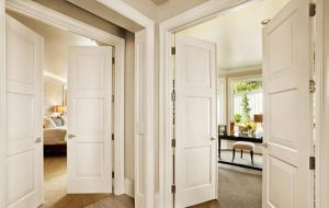 The main door of the apartment is fitted with HDF fireproof 60 minutes