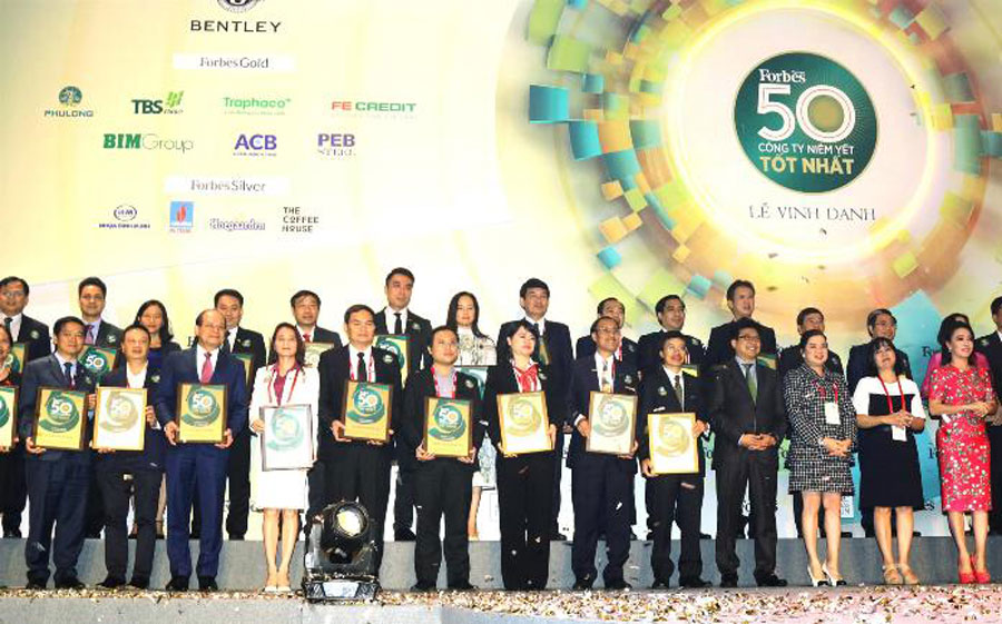 Top 50 best listed companies in Vietnam by Forbes.