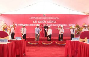 Commencement ceremony of the Phoenix wharf area (terminals 5 & 6) of Vung Ang port