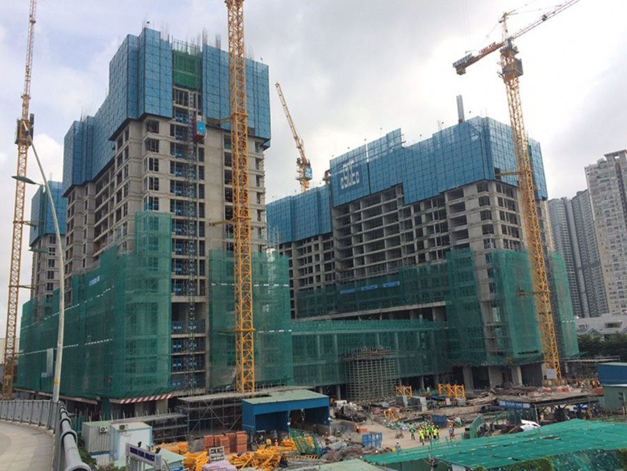 Latest photos at the Sunwah Pearl project site