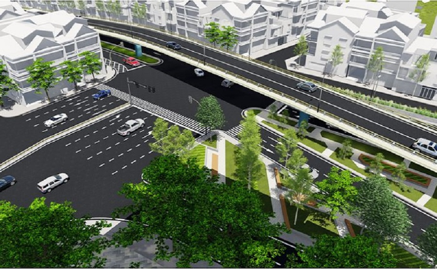 Licensing to build bridge overpass at An Duong - Thanh Nien intersection