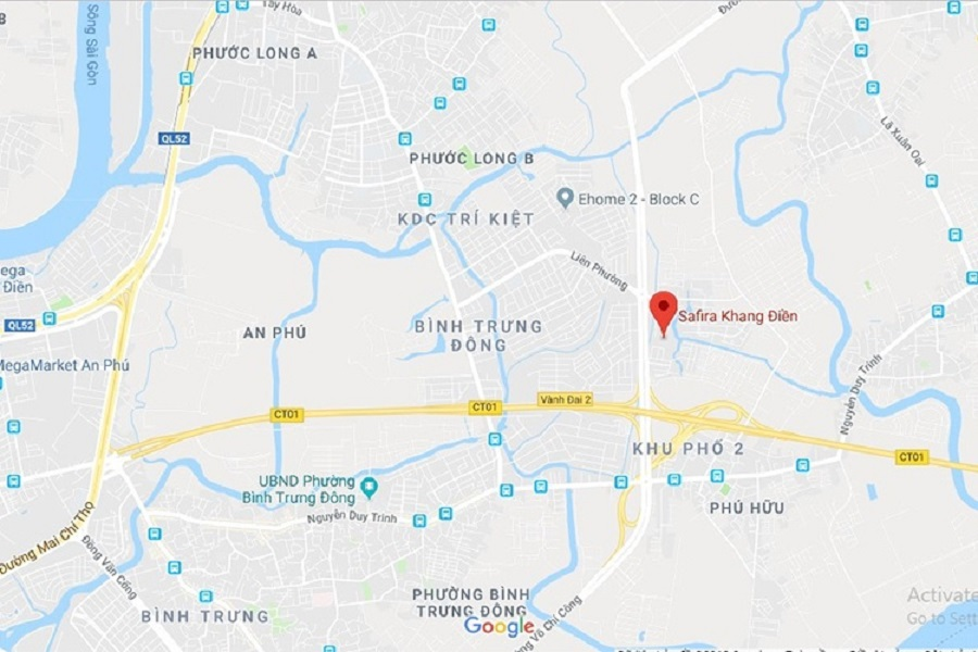 Location of SaFira Khang Dien
