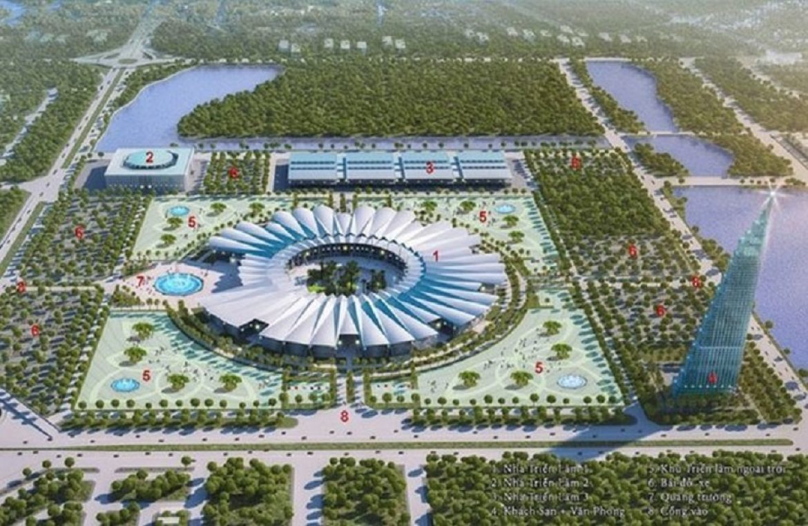 Perspective of the National Exhibition Center in Dong Anh