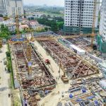The construction site of the Q2 Thao DIEN project in September 2018