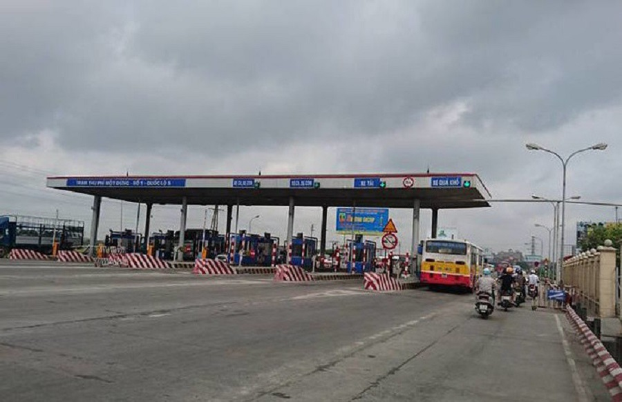 The toll station on Highway 5 was collected by VIDIFI for the return of Hanoi-Hai Phong expressway